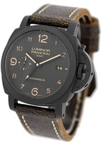 Panerai Luminor GMT Ceramica Black Ceramic Strap Mens Watch