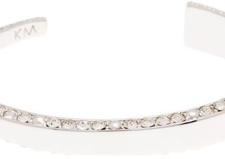 Karen Millen Ladies Silver Plated Contoured Crystal Cuff SM KMJ932-01-02SM