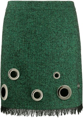 Boutique Moschino Eyelet-Detail Woven Skirt