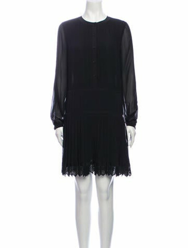 Thumbnail for your product : Tory Burch Crew Neck Mini Dress w/ Tags Black