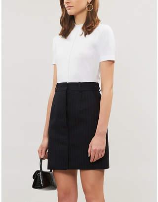 Sandro Dana striped woven mini skirt
