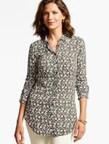 Talbots The Long Drapey Shirt - Provence Floral