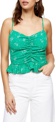 Topshop Ruched Peplum Camisole