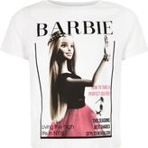 River Island Girls cream Barbie selfie t-shirt