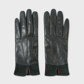 Paul Smith Women's Green Sheep Leather Suede Panelled Gloves