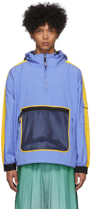 Kenzo Purple Colorblock Windbreaker Jacket