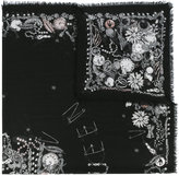 Alexander McQueen jewelled skull scarf - women - Silk/Modal - One Size