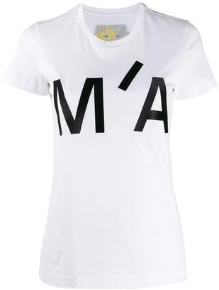 Marques Almeida embroidered logo crew-neck T-shirt