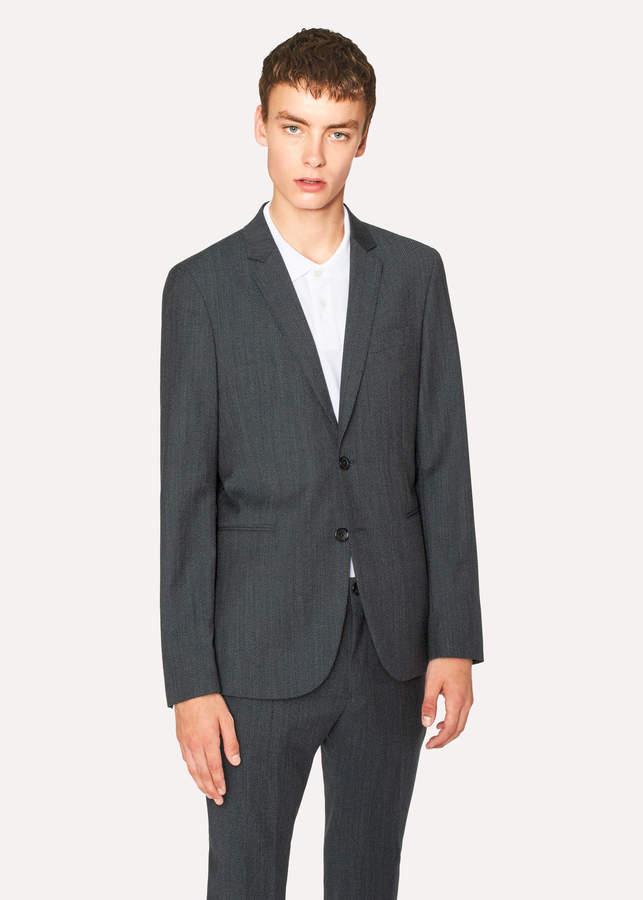 Paul Smith Men's Slim-Fit Navy Flecked-Wool Buggy-Lined Blazer