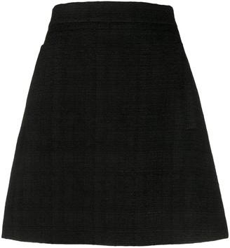 Etro Woven Check A-Line Skirt