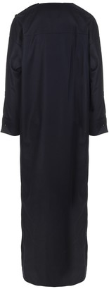 Max Mara Dark Blue Long Wool Dress