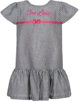 Richie House Girls' Striped Dress with Little Bow RH617-A