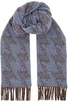 Eton Wool Blurred Camouflage Printed Scarf