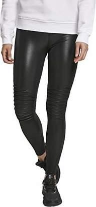 Urban Classic Women's Ladies Faux Leather Biker Leggings (Black 00007), 22 (Size: )