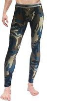 Neleus Men's Cotton Compression Skin Long Johns Pants,145,Red & Camo,L,Tag 2XL