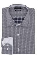 Tailorbyrd Trim Fit Textured Check Dress Shirt