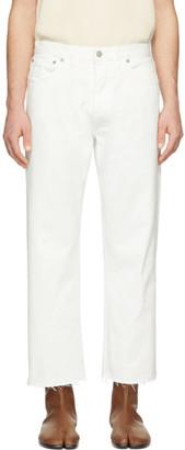Maison Margiela White Frayed Jeans