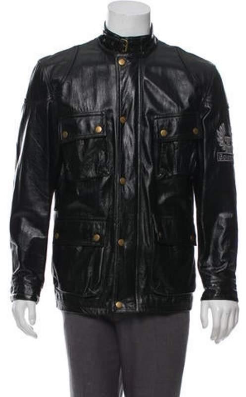 cbae470a3 Leather Utility Jacket black Leather Utility Jacket