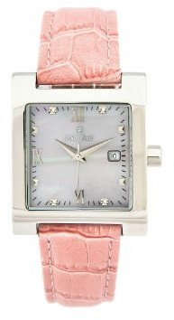 Oskar Emil St Petersburg Ladies Watch Pink Leather Strap with Real Diamonds