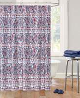 Echo Woodstock Cotton Sateen Floral Paisley Print Shower Curtain