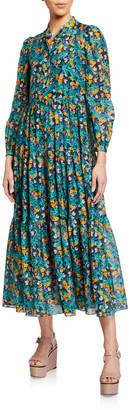 Diane von Furstenberg Nea Printed Button-Front Dress