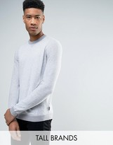 Ted Baker Tall Crew Neck Jumper In Texture