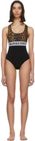 Burberry Black Logo One-Piece Swimsuit