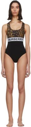 Burberry Black Logo One-Piece Swimsuit