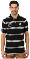 U.S. Polo Assn. Black Mallet Striped Pique Polo