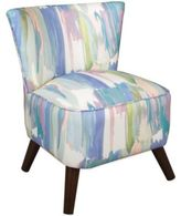 Skyline Furniture Contemporary Chair in Syncopation Periwinkle