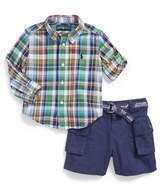 Ralph Lauren Plaid Shirt & Shorts (Baby Boys)