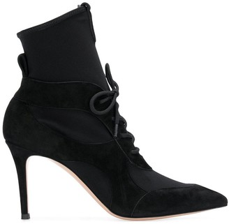 Gianvito Rossi Lace-Up Stiletto Ankle Boots