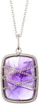 Candela Sterling Silver Wrapped Amethyst Pendant Necklace