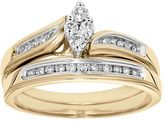 Cherish Always Certified Diamond Marquise Engagement Ring Set in 10k Gold (1/4 Carat T.W.)