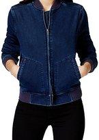 Calvin Klein Jeans Women's Knit Indigo Bomber