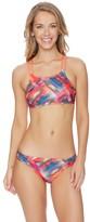 Splendid Plaid Patch High Neck Bikini Top