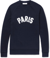 Sandro Terry-Appliquéd Loopback Cotton-Jersey Sweatshirt