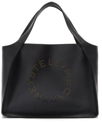 Stella McCartney Stella Perforated-logo Faux-leather Tote Bag - Black