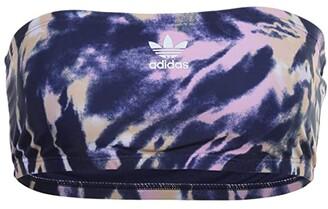 adidas Psychedelic Summer Tube Top (Midnight Indigo/True Pink/Glow Orange) Women's Swimwear