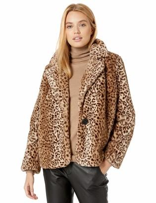 Kensie Women's Leopard Fur Jacket