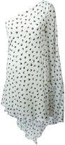 Sonia Rykiel swallow print one shoulder dress