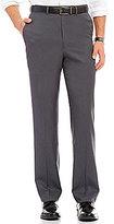 Roundtree & Yorke Travel Smart Ultimate Comfort Classic-Fit Flat-Front Non-Iron Herringbone Dress Pants