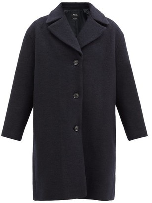 A.P.C. Ninh Single-breasted Wool-boucle Coat - Navy