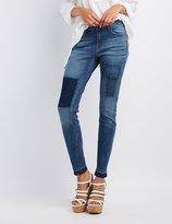 Charlotte Russe Refuge Patchwork Boyfriend Jeans