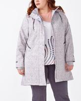 Penningtons ActiveZone Plus-Size Long Sleeve Hooded Jacket