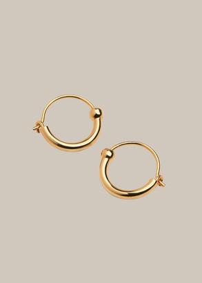 Mini Sphere Half Hoop Earring