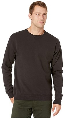 Hanes Comfortwashtm Garment Dyed Fleece Sweatshirt (Black) Clothing