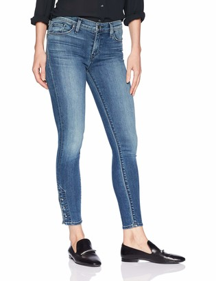 Hudson Women's Nico Mid Rise Super Skinny Cropped Jeans
