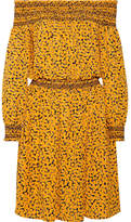 MICHAEL Michael Kors Finley Off-the-shoulder Printed Stretch-crepe Dress - Yellow