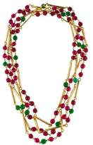 Chanel Engraved Gripoix Bead Necklace